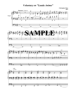 pdf sample - Christopher Hoyt Composition