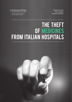 THE THEFT OF MEDICINES from ITALIAN HOSPITALS