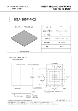 Package Datasheet - Semiconductor - Fujitsu