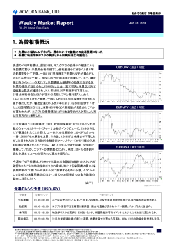 Weekly Market Report Jan 31, 2011 - あおぞら銀行
