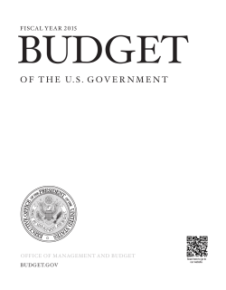 2015 Budget - The White House