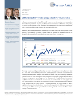 Oil Market Volatility Provides an Opportunity for Value Investors