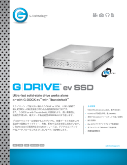 Ultra-fast solid-state drive works alone or with G