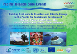 Pacific Islands Side Event!