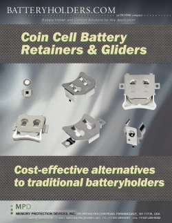 Retainers Gliders - Battery;pdf