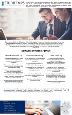 Softwareentwickler (m/w)