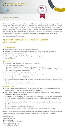 Quality Manager Payments-Systeme (m/w)