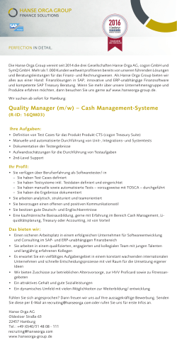 Quality Manager Cash Management-Systeme (m/w)
