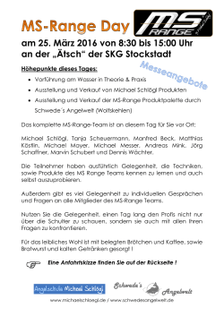 Flyer MS-DAY in Stockstadt