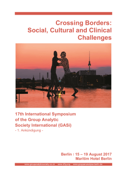Crossing Borders: Social, Cultural and Clinical Challenges 17th