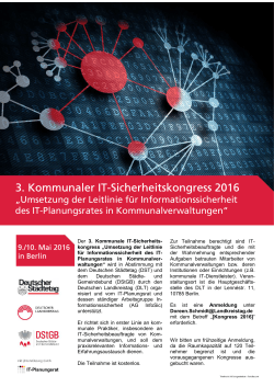 3. Kommunaler IT-Sicherheitskongress 2016