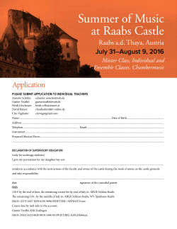 the application - Summer of Music at Raabs Castle