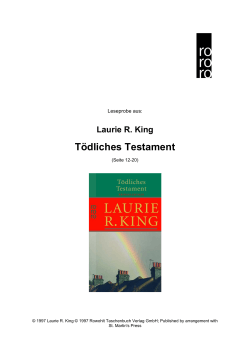 Laurie R. King Tödliches Testament
