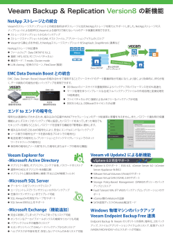 Veeam Backup & Replication Version8 の新機能
