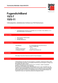 FugendichtBand 15/3-7 15/5-11