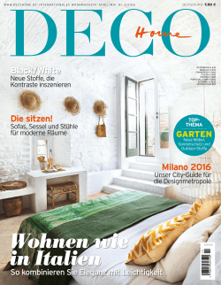 DECO Home Artikel April/Mai 2016