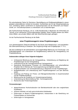 Projektmanager/in Technologietransfer