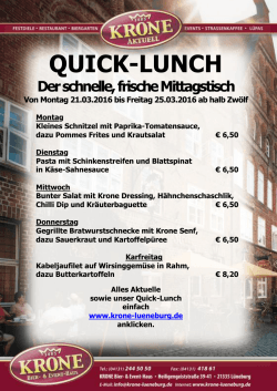 Quicklunch 2016-03-21