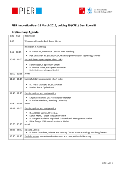 Preliminary Agenda - Life Science Nord