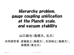 Hierarchy problem, gauge coupling unification at the Planck scale