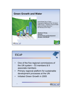 Green Growth and Water