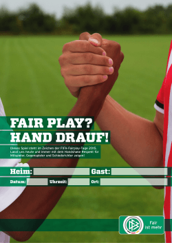 fair play? hand drauf! - tfv