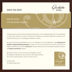 SAVE THE DATE - Juwelier Grabbe