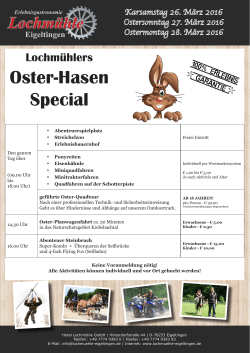 Lochmühlers Oster-Hasen-Special!