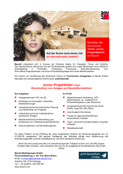 Junior Projektleiter (m/w)