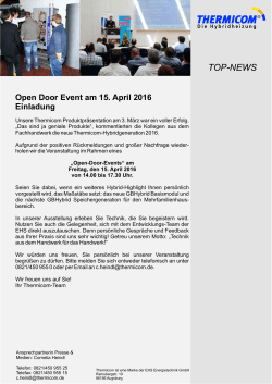 TOP News Einladung 15. April