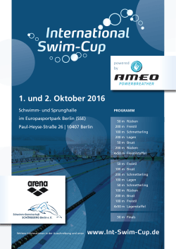 1. und 2. Oktober 2016 - International Swim-Cup