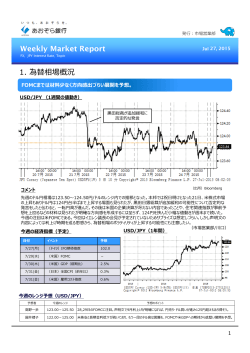 Weekly Market Report - Jul 27, 2015(PDF:676KB)