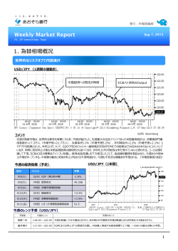 Weekly Market Report - Sep 7, 2015(PDF:670KB)
