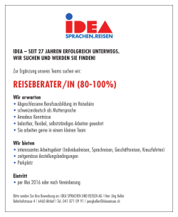 reiseberater/in (80-100%)