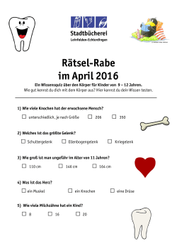 Rätsel-Rabe im April 2016 - Leinfelden