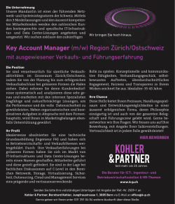 Key Account Manager - s-p.ch