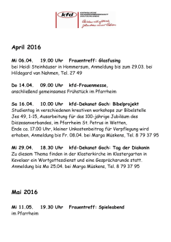 April 2016 Mai 2016 - St. Martinus Pfalzdorf