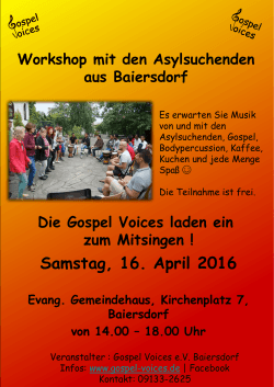 Workshop - Gospel Voices