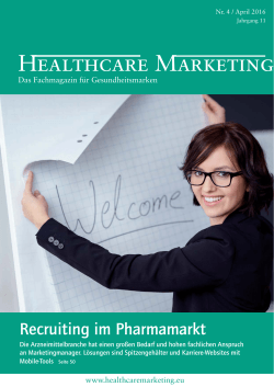 Healthcare Marketing 4/2016