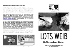 Berlin-Film-Katalog Flyer Lots Weib