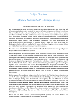 Call for Chapters - FHPol Brandenburg