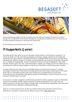 IT-SupporterIn (Junior)