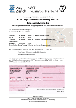 Informationen - SVKT Frauensportverband Zug/Zürich