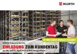 Flyer - Würth Industrie Service GmbH & Co. KG