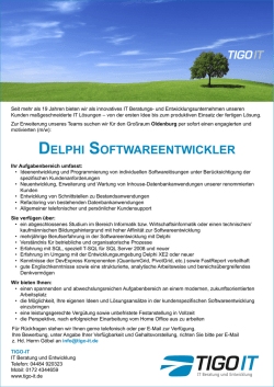 delphi softwareentwickler - Timo Göbel TIGO