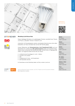 EVENTS - se LIGHTMANAGEMENT AG