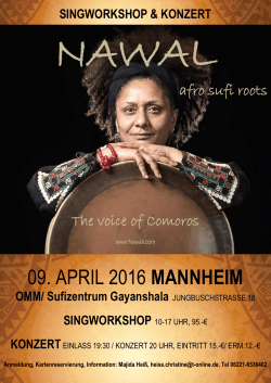 09. APRIL 2016 MANNHEIM