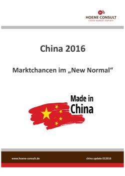 News 201601 Marktchancen im New Normal 21012016.indd