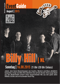 Billy Hill | NL - Live-Club