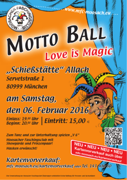 Motto Ball - des Moosacher Faschingsclubs